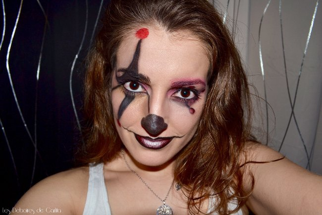 Maquillage de clown vaincre sa phobie les d boires de carlita - Comment faire un maquillage de clown qui fait peur ...